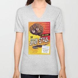 """""""The Brain Stalk"""" Movie Poster Unisex V-Neck"""
