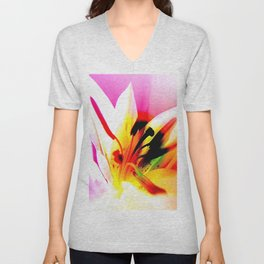 Abstract Of The Lily Unisex V-Neck