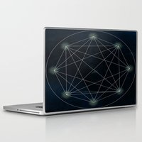 sacred geometry Laptop & iPad Skins featuring Geometry Sacred by BlueGardenia36