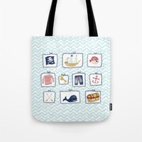 pirates Tote Bags featuring Pirates by Jill Byers