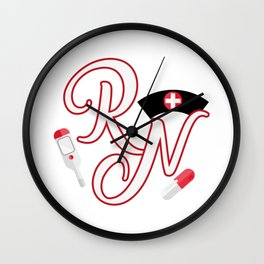 RN Registered Nurse Wall Clock