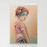michael clifford Stationery Cards featuring Within White by Michael Shapcott