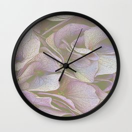 FADED HYDRANGEA CLOSE UP Wall Clock