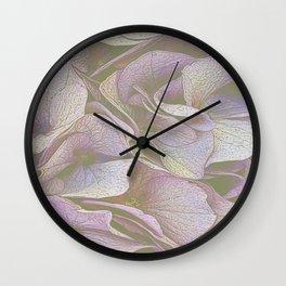 FADED HYDRANGEA CLOSE UP Wall Clock