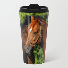 Lean on Me: Two Friends in the Summer Sun Travel Mug
