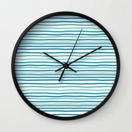 sea stripes Wall Clock