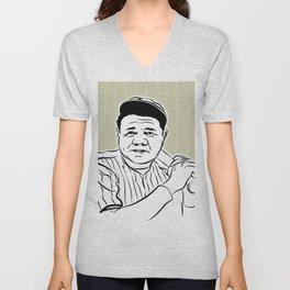 Face Babe Ruth Unisex V-Neck