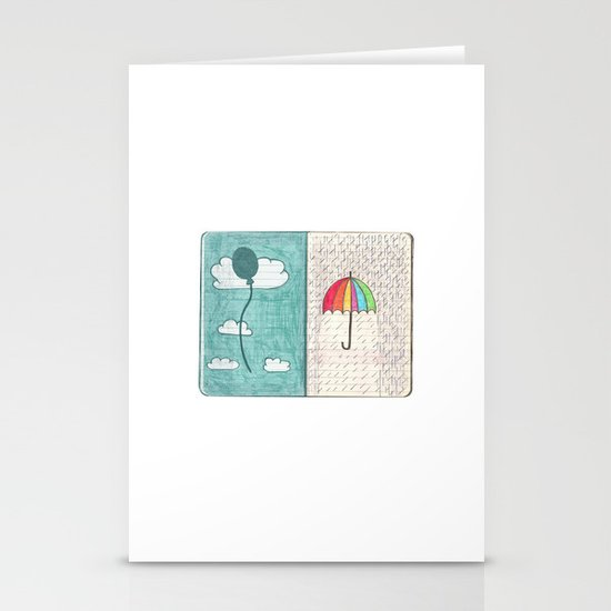 Always trust the weather Stationery Cards