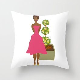 Cultivated & Zesty No 02 Throw Pillow