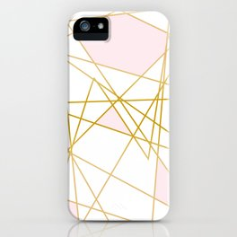 Pink and Gold iPhone Case
