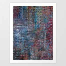 BRICK TEXTURE MODERN ABSTRACT PAINTING Art Print