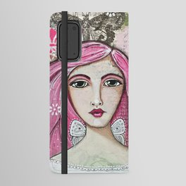 Believe in Your Own Magic Mixed Media Fairy Girl Android Wallet Case