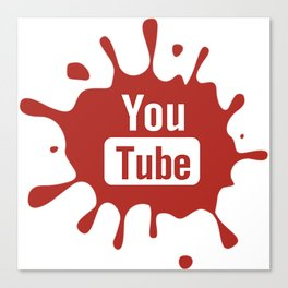 youtube youtuber - best designf or YouTube lover Canvas Print