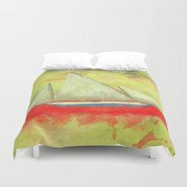 Abstract-ship Duvet Cover