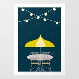 Jolly Cafe | Disney inspired Art Print