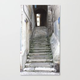 Old Stairs in Bourge, France Canvas Print