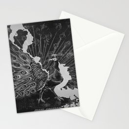 Peacock advertisement Stationery Cards