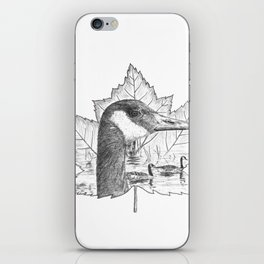 Canada Goose on Maple Leaf iPhone Skin