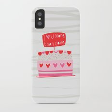 Love you more than cake iPhone X Slim Case