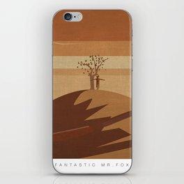 Minimalist Fantastic Mr.Fox iPhone Skin