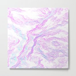 Abstract liquid Metal Print