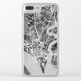 Southampton England City Map Clear iPhone Case