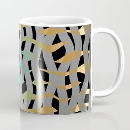 Wavy Mosaic Organic Weave Abstract Coffee Mug