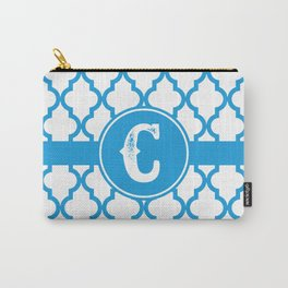 Blue Monogram: Letter C Carry-All Pouch