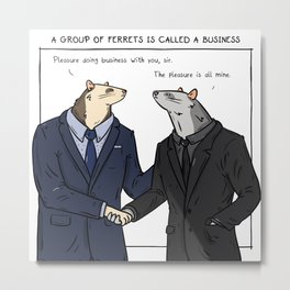 Business Metal Print