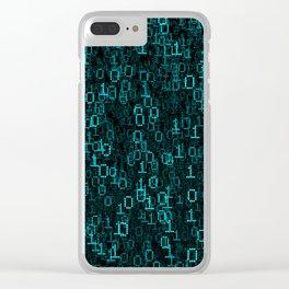Binary Data Cloud Clear iPhone Case