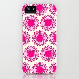 vintage flowers pink  iPhone Case