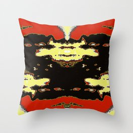 Aspersions Throw Pillow