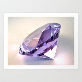 Purple Diamond Art Print