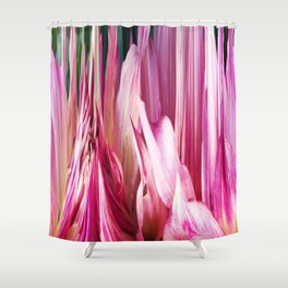 448 - Abstract Flower Design Shower Curtain