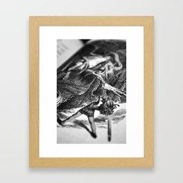 Alice in Wonderland - Attack of the Jabberwocky Framed Art Print