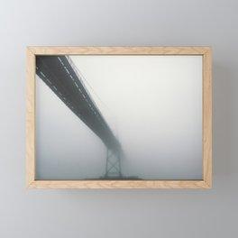 Bridge to Fog Framed Mini Art Print