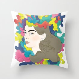 Exploded Head Throw Pillow