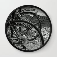 bikes Wall Clocks featuring Bikes  by Renatta Maniski-Luke