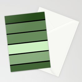 Green Stripes Stationery Cards