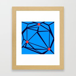 3 Red Dots Framed Art Print