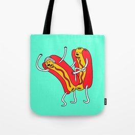 Dancing Hot Dog Tote Bag