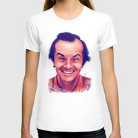 jack nicholson T-shirts featuring Young Jack Nicholson and the evil smile - digital painting by Thubakabra