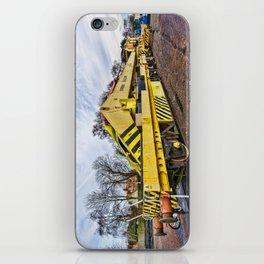 Railway crane iPhone Skin