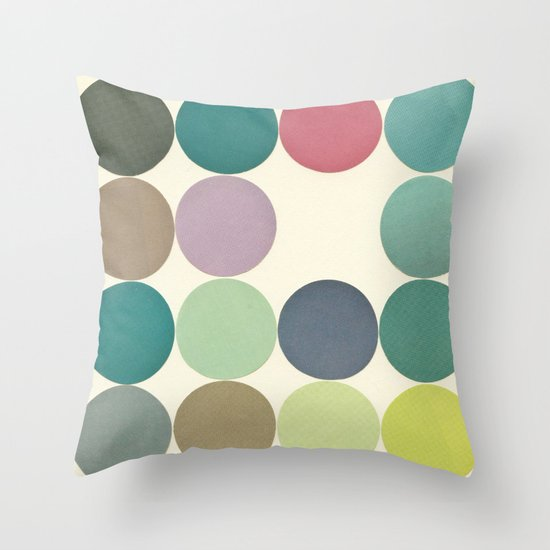 Circles I Throw Pillow