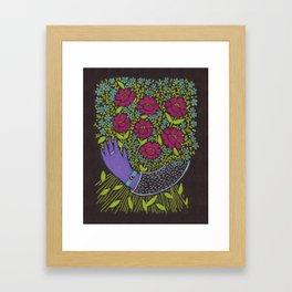 I Picked You These Flowers Framed Art Print