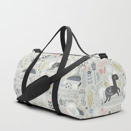 horses jungle Prints patterns Duffle Bag