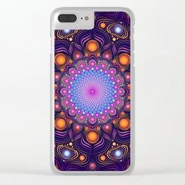 """Guardian"" Mandala painting Clear iPhone Case"