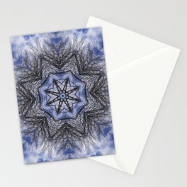 Branches, clouds and sky kaleidoscope Stationery Cards