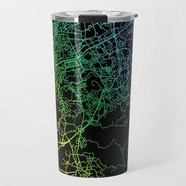 Braga, Portugal, City, Map, Rainbow, Map, Art, Print Travel Mug