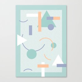 Geometric Calendar - Day 14 Canvas Print